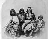Ute Family, C.1870-75 Photographic Print by Charles Roscoe Savage