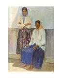 Two Gipsy Women, 1950s Giclee Print by Konstantin Lekomtsev