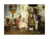 The Interrupted Proposal, 1889 Giclee Print by Leopold Schmutzler