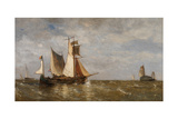 Mouth of the Scheldt Giclee Print by Paul Jean Clays