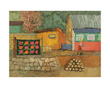 Village in Crimea, 1960s Giclee Print by Nina Ivanovna Shirokova
