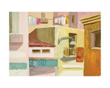 Houses at Capri, 1960s Giclee Print by Nina Ivanovna Shirokova