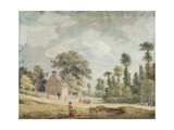 Looking Down Egham Hill Giclee Print by Paul Sandby