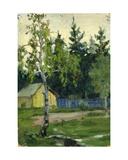 Russian Rural Scene, 1950s Giclee Print by Svetlana Ryazanova