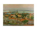 Harbour in Feodosia on the Azov Sea, 1960s Giclee Print by Svetlana Ryazanova