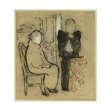 Mother and Daughter, C.1892 Giclée-Druck von Edouard Vuillard