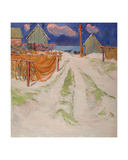 Drying Nets on the Beach by the Baltic Sea, 1960s Giclee Print by Svetlana Ryazanova