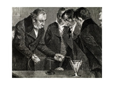 Oersted, Hans Christian (1777-1851). Danish Physicist and Chemist. Oersted Discovers… Giclee Print