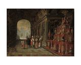 The Temple of Solomon Giclee Print by Juan de la Corte