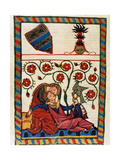 Konrad Von Altstetten, Swiss Ministerial Rests with His Beloved after a Whipped Hunting. Fol.… Giclee Print