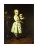 Sibling Love, 1858 Giclee Print by Johann Georg Meyer