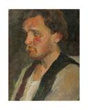 Portrait of a Russian Muzhik, 1930s Giclee Print by Konstantin Lekomtsev