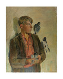Pigeon Fancier, 1930s Giclee Print by Konstantin Lekomtsev