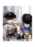 Women Drinking Beer, 1878 Giclee Print by Edouard Manet