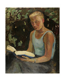 Young Man Reading, 1930s Giclee Print by Konstantin Lekomtsev