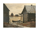 Old Village in Karelia, 1960s Giclee Print by Nina Ivanovna Shirokova