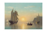 Sunset Calm in the Bay of Fundy, C.1860 Giclee Print by William Bradford