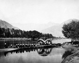 The Resident's Boat, Kashmir, C.1860s Photographic Print by Samuel Bourne