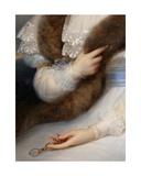 Detail of Portrait of Marie-Josephine Lafont-Porcher Giclee Print by Francois Josephe Kinsoen