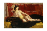 Reclining Nude Giclee Print by Isaac Israels