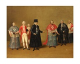 Officers of the Knights of Malta Giclee Print by Antoine de Favray
