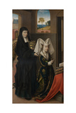 Isabella of Portugal and St. Elizabeth, C.1457-60 Giclee Print by Petrus Christus