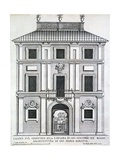 Garden Casino Belonging to Giacomo De Rossi on the Gianicolo Alla Longara, from 'Palazzi Di… Giclee Print by Giovanni Battista Falda