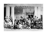 Group of Europeans in Colonial India, C.1870s Photographic Print