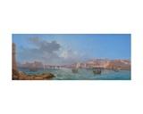 Grand Harbour, Valletta Giclee Print by Luigi Maria Galea