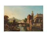 Cityscape in Spain Giclee Print by Francois Antoine Bossuet