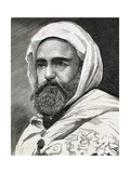 'Abd Al-Qadir B Muhyi Al-Din Al-Hasani (Abdelkader) (1808 - 1883). Algerian Leader. Engraving Giclee Print