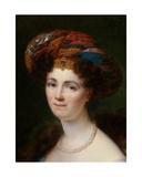 Detail of Portrait of Josephine Victoire Meslier-Duvey Giclee Print by Francois Josephe Kinsoen