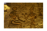 Egyptian Art. Great Temple of Ramses II. Relief Depicting the Pharaoh Ramses II Making an… Giclee Print