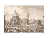 View of the City of Florence with the Baptistery of St. John and the Procession of Corpus Domini Giclee Print by Giuseppe Zocchi