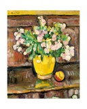 Still Life with Flowers in a Yellow Vase Giclee Print by George Leslie Hunter