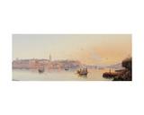 Marsamxett Harbour, Valletta, Malta Giclee Print by Luigi Maria Galea