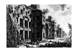 View of the Frigidarium at the Baths of Diocletian, from the 'Views of Rome' Series, C.1760 Giclee Print by Giovanni Battista Piranesi
