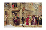 Henri III and the Duc De Guise, 1855 Giclee Print by Pierre Charles Comte
