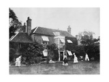 Croquet on the Lawn at Elm Lodge, Streatley, C.1870s Photographie par Willoughby Wallace Hooper