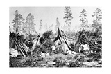 Yosemite Indian Huts, C.1870s Photographic Print by  American Photographer