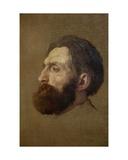 Portrait of Rodin, 1882 Giclee Print by Alphonse Legros