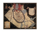 Map of Bruges and the Feudal Grounds Giclee Print by Joannes Lobberecht