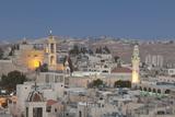 Panoramic Skyline of Bethlehem at Dusk, Palestine Photographic Print