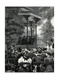 Open-Air Music in London: Listening to the Military Band in Hyde Park Giclee Print by Arthur Hopkins