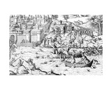 The Massacre of Tours, from 'Les Guerres De Religion', 1570 Giclee Print by  J. J. Perrissin and J. Tortorel