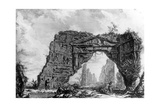 View of the Ruined Portico of the Villa Dei Sette Bassi, from the 'Views of Rome' Series, C.1760 Giclee Print by Giovanni Battista Piranesi