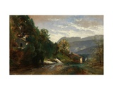 Mountainous Landscape at Voreppe, Dauphiné Giclee Print by Theodore Fourmois