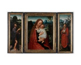 Madonna with John the Baptist and Saint Jerome Giclee Print by Adriaen Isenbrandt or Isenbrant