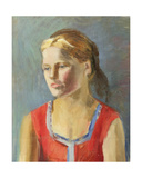 Girl in Red Shirt, 1930s Giclee Print by Konstantin Lekomtsev
