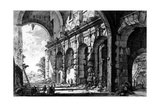 View of the Remains of the Temple of Claudius Near the Church of Santi Giovanni E Paolo, from the… Giclee Print by Giovanni Battista Piranesi